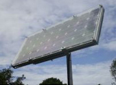 Pole mounted solar panel