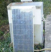Unit mounted solar panel