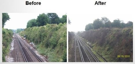 Road Rail Bank Sprayer - Before and After